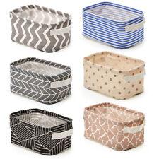 Ezoware 6 Small Collapsible Fabric Storage Bins Organizer Baskets 10x6x5 inch