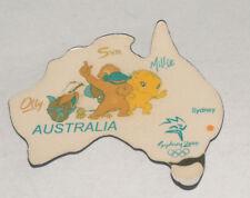 SYDNEY AUSTRALIA 2000 OLYMPICS OLLY SYD MILLIE MASCOT REFRIGERATOR MAGNET