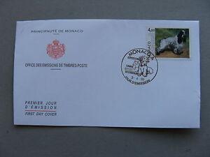MONACO, cover FDC 1995, dog Cockerspaniel