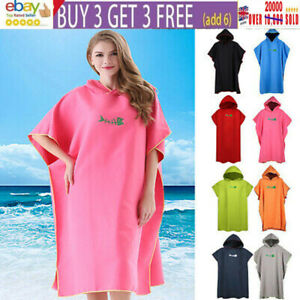 Poncho Towel Microfiber Surf Poncho Robe With Hood Wetsuit Changing Surfers UK*
