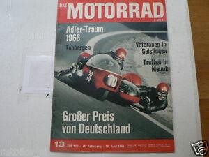 MOTORRAD 1966-13 SCHEIDEGGER,ROBINSON BMW SIDECAR COVER,SCHOLTIS ADLER,KREIDLER