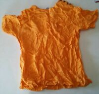 000 Womens Vintage Hunters Run Shirt Orange Small Shoulder Buttons