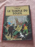 LES AVENTURES DE TINTIN LE TEMPLE DU SOLEIL FRENCH CARTOON BOOK