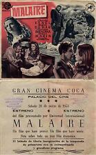 Programa PUBLICITARIO de CINE: MALAIRE. Charles VANEL, Andrée DEBAR.