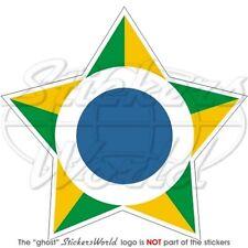 """BRAZIL Brazilian Air Force FAB Aircraft Roundel 100mm (4"""") Vinyl Sticker, Decal"""