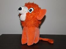 Orange Vintage Plush Lion Stuffed Straw 1962 Japan Prize  EUC