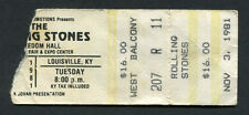 1981 Rolling Stones concert ticket stub Louisville KY Tattoo You Jagger Richards