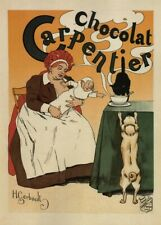 Chocolat Carpentier, 1897, France, Vintage Grocery and Confectionery Poster