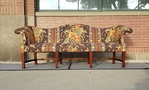Vintage HICKORY CHAIR CO Chippendale Camelback 8 Leg Sofa-Nice!