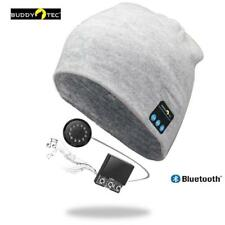 Beanie Mütze Universal grau Bluetooth Kopfhörer Headset Bluetoothmütze Neuheit
