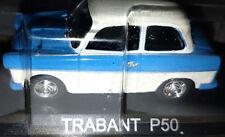 Trabant P50 Azzurra Tetto Bianco - Scala 1:43 - DeAgostini - Nuova