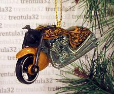 FATBOY MOTORCYCLE GOLD BLACK CHOPPER CHRISTMAS TREE ORNAMENT XMAS