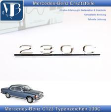 Original Mercedes-Benz W123 C123 230C Typenzeichen, Schriftzug zum stecken