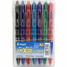 Pilot FriXion Clicker Retractable Erasable Gel Pens, Fine Point, Assorted