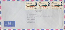 Mauritius, multi. franked Airmail to Germany - Dolphin Dorade   MeF Goldmakrele