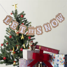 LET IT SNOW BUNTING BANNER GARLAND CHRISTMAS FROZEN PARTY HANGING DECORATION