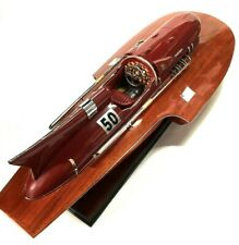 FERRARI ARNO XI HYDROPLANE 90cm Completed Wooden Model Speed Boat 35 inches