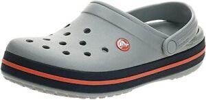 Crocs Unisex-Adult Men's and Women's Crocband Clog Grey M12 / W14