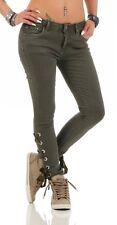4791 Damen Jeans Röhrenjeans Hose Stretch-Denim Skinny Röhre Damenjeans Slimline