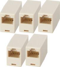 5 x  RJ45 Cat5e Cat5 Network Ethernet  Patch LAN Adapter Coupler cat5e Cat6