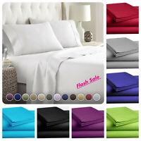 4-Piece Bed Sheet Set, Deep Pocket, Wrinkle, Stain Resistant Microfiber