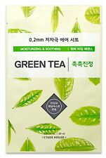 Etude House 0.2 Therapy Air Sheet # Green Tea Mask Sheet, Clearance SALE
