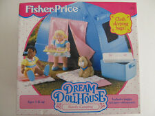 Retired Rare New Fisher Price Loving Dream Dollhouse Family Camping w Tent