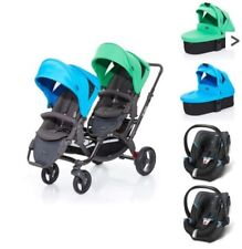 ABC Design Zoom + 2 Carrycots + 2 Cybex Aton 4 water grass blue green 3ba77536d0