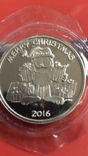 2016 .999 fine silver oz Garfield the Cat  Merry Christmas  bullion round