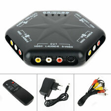 4 Way Audio Video AV RCA Switch Multi Box Composite Selector With Remote Control