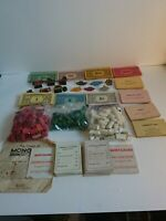 Vintage 1940's? Monopoly spare pieces, money, metal pieces, cards some home made
