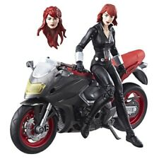 Marvel Legends Series Action Figure Black Widow with Motorcycle Hasbro 15 cm