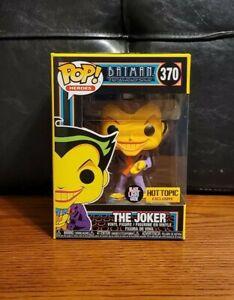 Funko Pop! DC Heros Batman The Joker #370 Black Light Exclusive w/Protector