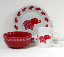 """Set déjeuner enfant """"éléphant"""" Blafre neuf style rétro"""