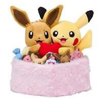 Pokemon Center Original Plush doll season Pikachu & Eevee winter JAPAN OFFICIAL
