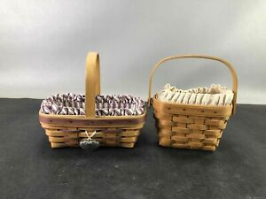 Longaberger Sm Sized Baskets w/Liners, Protectors