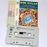 BOB DYLAN SHOT OF LOVE 1981 CASSETTE TAPE ALBUM ROCK FOLK COUNTRY