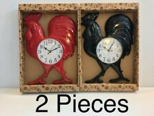 "ROOSTER WALL CLOCK 14""X11"". 2 Pieces (same color or different color)"