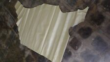 Goatskin Hide Top quality Goat leather soft gold with pattern 6 Sq.Ft  2.5 oz.