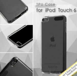 iPod Touch 5th 6th 7th Gen -HARD RUBBER SILICONE GUMMY GEL CASE SKIN COVER CLEAR
