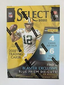 New 2020 Panini Select Football Blaster Box NFL Tua Herbert Burrow Hurts?