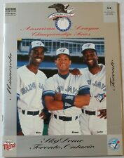 1991 Toronto Blue Jays vs Minnesota Twins ALCS Program Alomar Carter White Cover