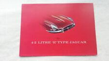 32B 114 Jaguar E-Type 4,2 Liter Sportwagen Prospekt Brochure deutsch