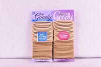 LOT OF 2 Goody Ouchless Medium Hair Elastics Hair Ties, Tan, (60 TOTAL)