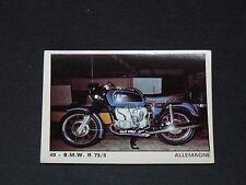 #49 BMW R 75/5 DEUTSCHLAND ALLEMAGNE MOTO 2000 PANINI EDITIONS DE LA TOUR 1973