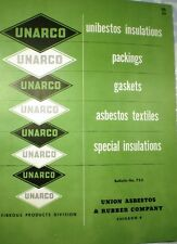 UNARCO Catalog Union ASBESTOS & Rubber Co Packing Insulation Gaskets Unibestos