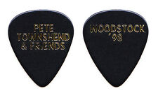 The Who Pete Townshend Woodstock 1998 Black Guitar Pick - 1998 Tour