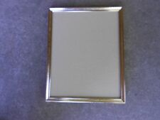 Vintage Gold Tone Metal Picture Frame 8 x 10 Photo Easel and Hanger on back