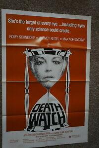 DEATH WATCH  LA MORT EN DIRECT  ROMY SCHNEIDER  MAX VON SYDOW   ONE SHEET 1980