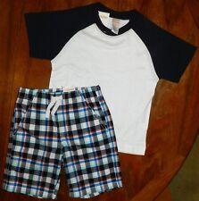 Shorts Outfit Gymboree 2pc Plaid Cotton Boy size 6-12 month New
